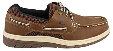 Men's Island Surf Company, Sail Lite Lace up Boat Shoe BROWN 7.5 M