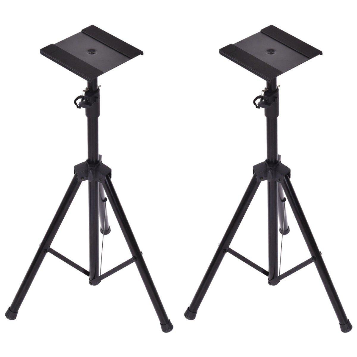 Costzon Speaker Stand Tripod Height Adjustable Design Studio Monitor Floor Stand , Set of 2