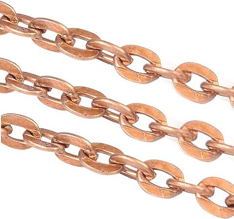 Gliederkette aus Messing zur Schmuckherstellung Farbe Kupfer 2 x 1,5 mm