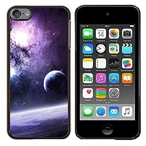 Jordan Colourful Shop - Galaxy Purple Sun Stars Moon Planets Dust Space For Apple iPod Touch 6 6th Generation Personalizado negro cubierta de la caja de pl????stico