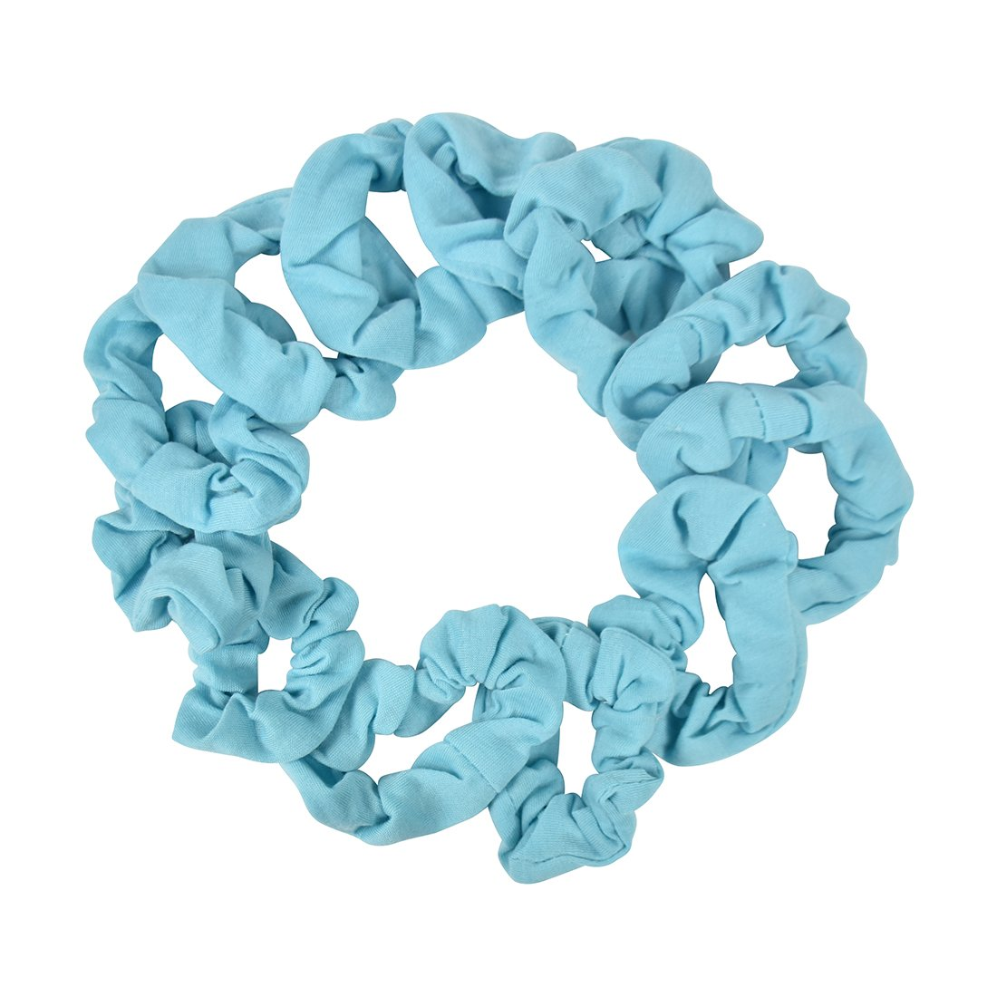12 Pack Small Scrunchies Cotton Hair Scrunchy - Light Pink Motique Accessories 12PH0046LP