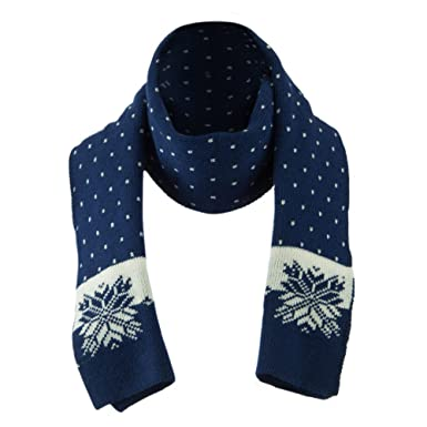 Large Snowflake Designed Scarf - Blue OSFM at Amazon Men s Clothing ... 1490b7146980