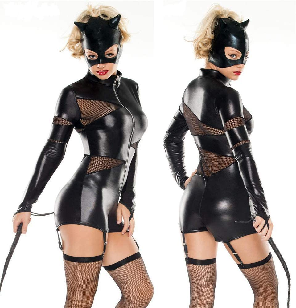 HJG Disfraz de Catwoman para Mujer, Traje Negro, Disfraces de ...