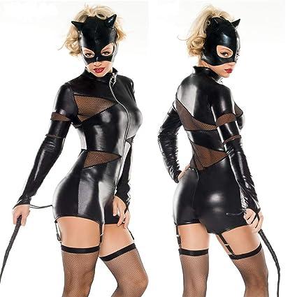 HJG Disfraz de Catwoman para Mujer, Traje Negro, Disfraces ...