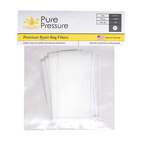 Amazon.com: Rosin Bolsas de filtro de 115 micras – 2 x 3 x 6 ...