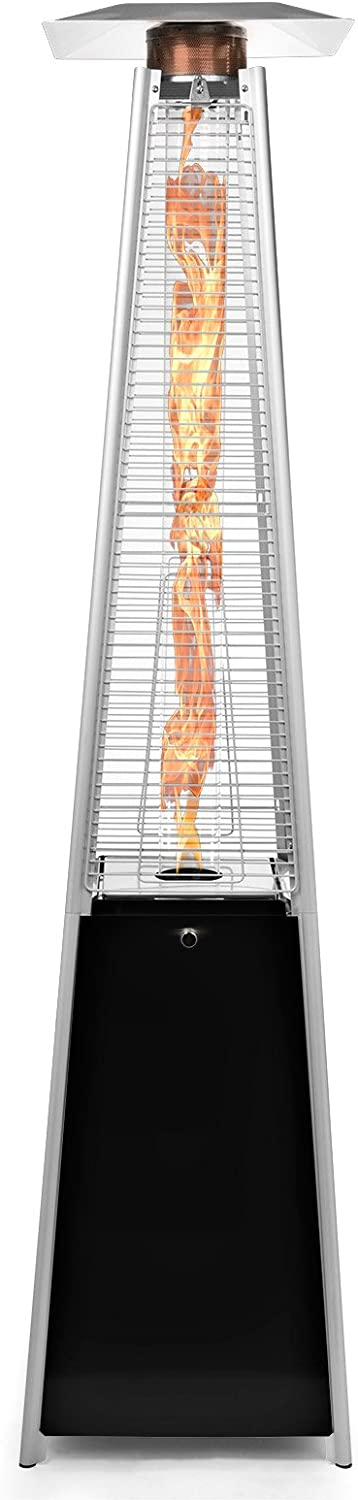 Thermo Tiki Outdoor Propane Patio Heater - Commercial LP Gas Porch & Deck Heater - Black