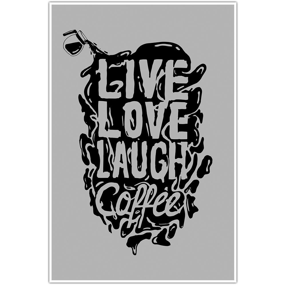Live Love Coffee Kitchen Decor Wall Art