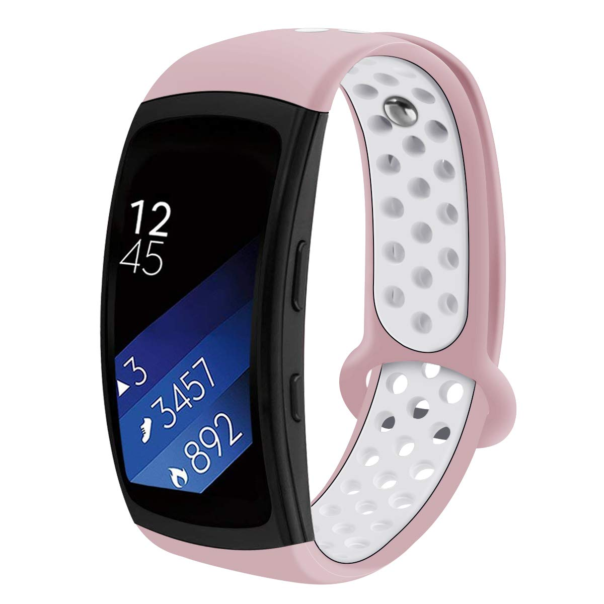 Compatible Samsung Gear Fit2 Pro Watch Band/Samsung Gear Fit 2 Band, Replacement Bands Wristbands Straps Bracelet Accessories for Gear Fit 2 Pro SM-R365/ Fit2 SM-R360 (Pink)
