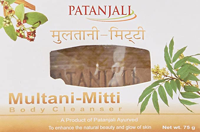 Patanjali Multani Mitti Body Cleanser, 75g