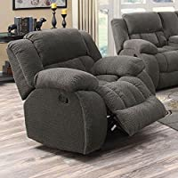 Coaster Home Furnishings 601923 Weissman Motion Collection Glider Recliner, Charcoal