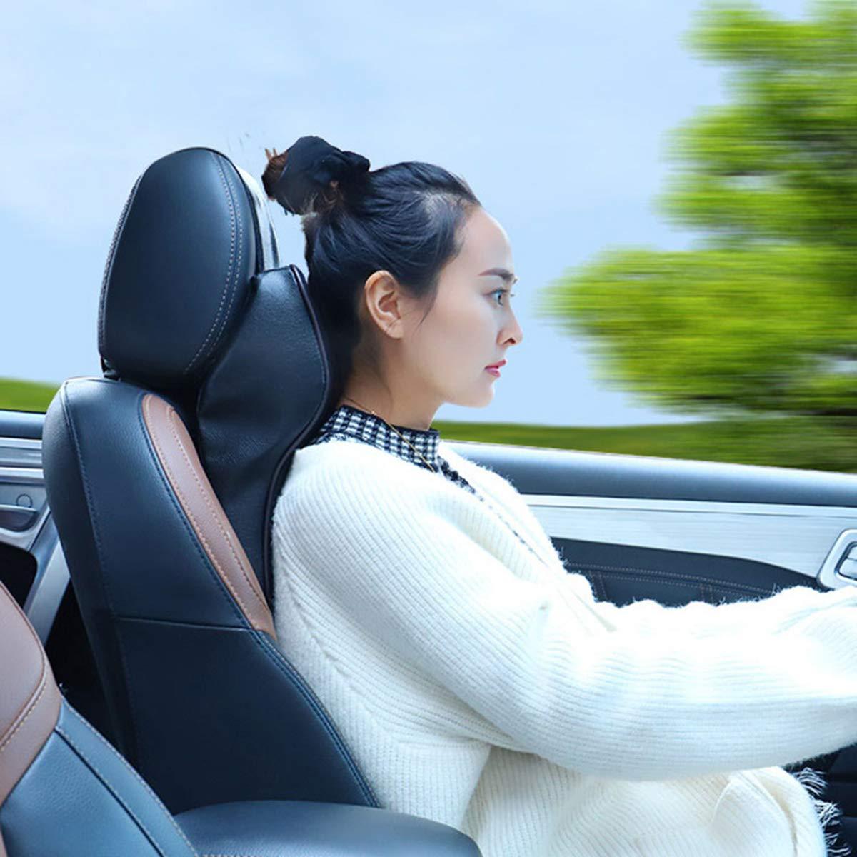 LIOOBO Car Headrest Cushion Pillow Neck Headrest Support Pillow Car Seats Accessories Black