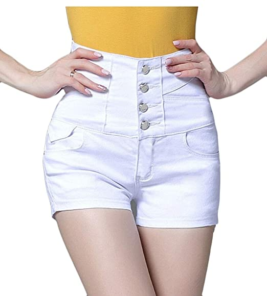 8209dfed215 security Women s High Waisted Denim Shorts Pants Mini Jeans Plus Size 2 3XL