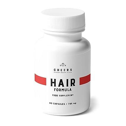 Cheers - Hair Formula - Suplemento natural con ácido fosfatídico para potenciar x2 crecimiento del cabello - Extractos de bambú, cola de caballo y ...