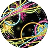 Creative Converting 24 Count Sturdy Style Paper Dessert Plates, 7, Glow Party (Value-Pack)