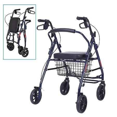 Andador con ruedas con silla de transporte plegable, for personas ...