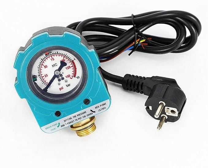 OUKANING Control de la bomba, 10 bar, control de presión, interruptor de presión, controla la presión del agua.