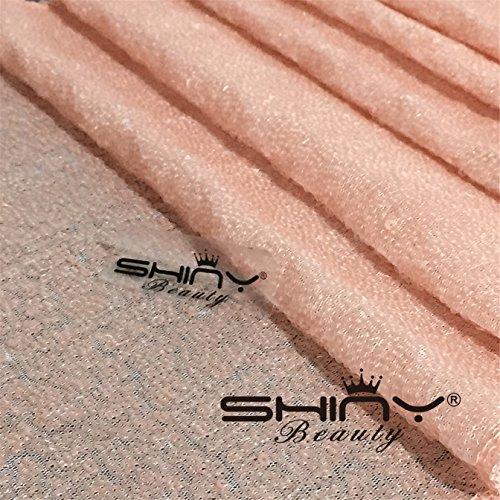 ShinyBeauty Aisle Runner Tape-Pink-4FTX15FT,Shimmer Sequin Fabric Wedding Floor Runner,Glitter Carpert Runner