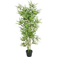 vidaXL Árbol de Bambú Artificial Macetero 120 cm