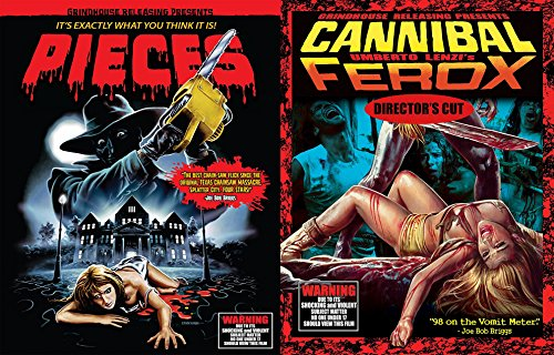 Grindhouse Pieces Deluxe Blu Ray + CD & Cannibal Ferox Director's Cut Double Feature Cult Horror