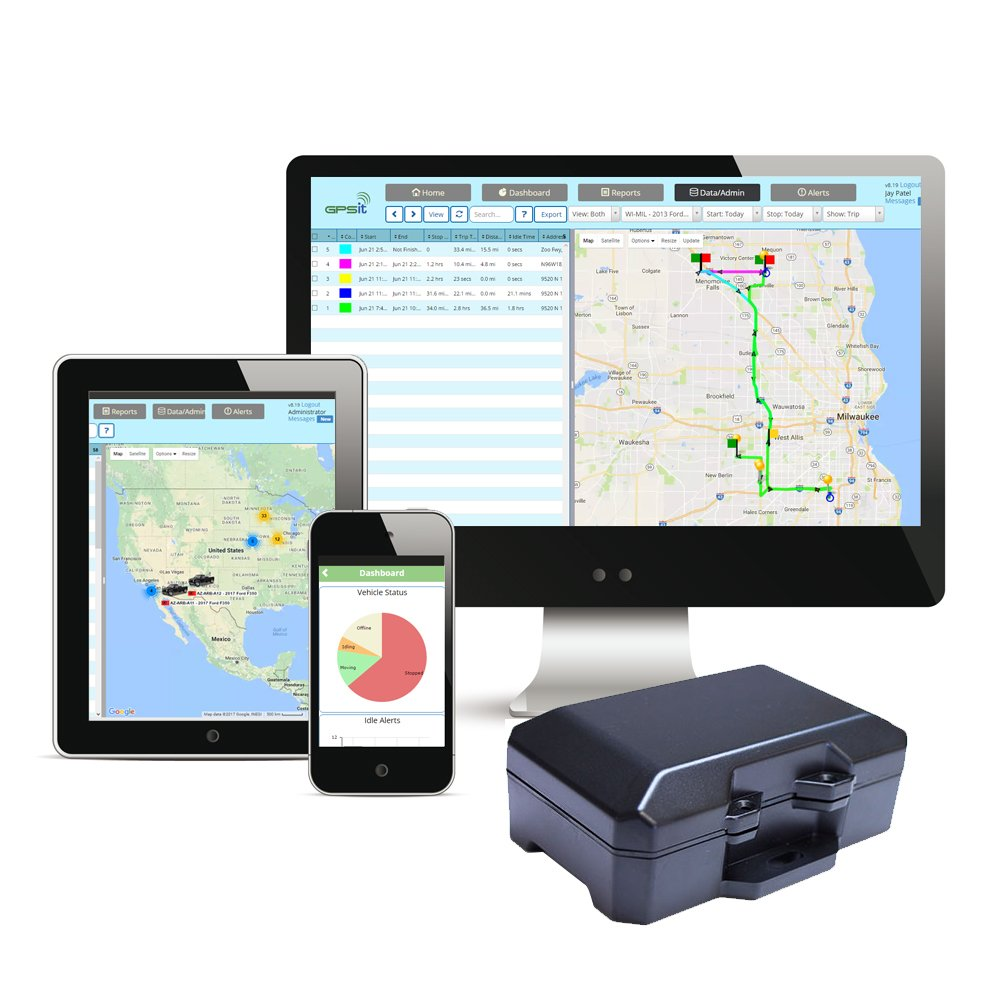 Heavy Asset, Trailer Tracking and Security Device with Service for 1 year, No Contracts, No Monthly Fees, Real Time Tracking, Advanced Features, Monitoring, Nationwide Coverage and Advanced Platform