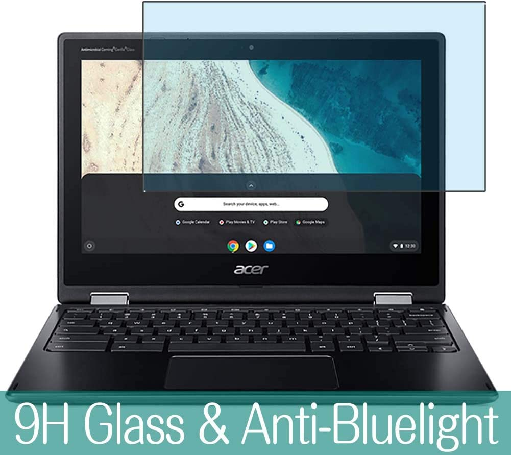 "Synvy Anti Blue Light Tempered Glass Screen Protector for Acer Chromebook Spin 511 R752T-R752TN-N14N 11.6"" Visible Area 9H Protective Screen Film Protectors"