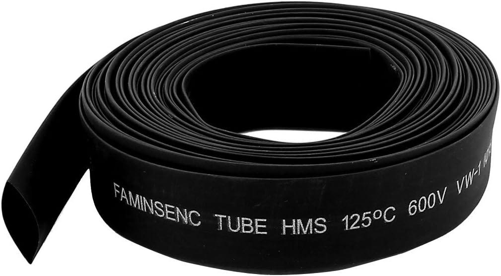 sourcingmap/® Diam/ètre 15mm Gaine thermor/étractable en polyol/éfine noire 8M longueur
