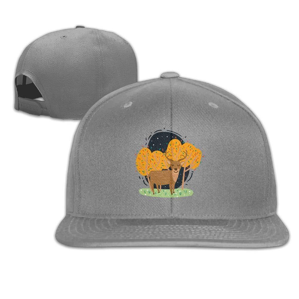 01723cee82e Aiguan Cartoon Elk Flat Visor Baseball Cap