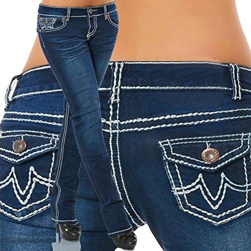 Taille tendue Denim Haute Trousers Taille Pantalons Clair Straight Pantalon Jeans Droit Grande 3XL Femme Pants Skinny Bleu Fitness S Shaping Crayon Sunenjoy nCqOTFO