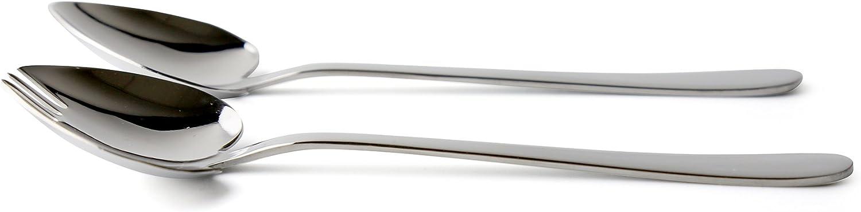 Grunwerg Windsor Carded Heart Spoon /& Fork Set Mirror Stainless Steel 16 x 5 x 1.5 cm