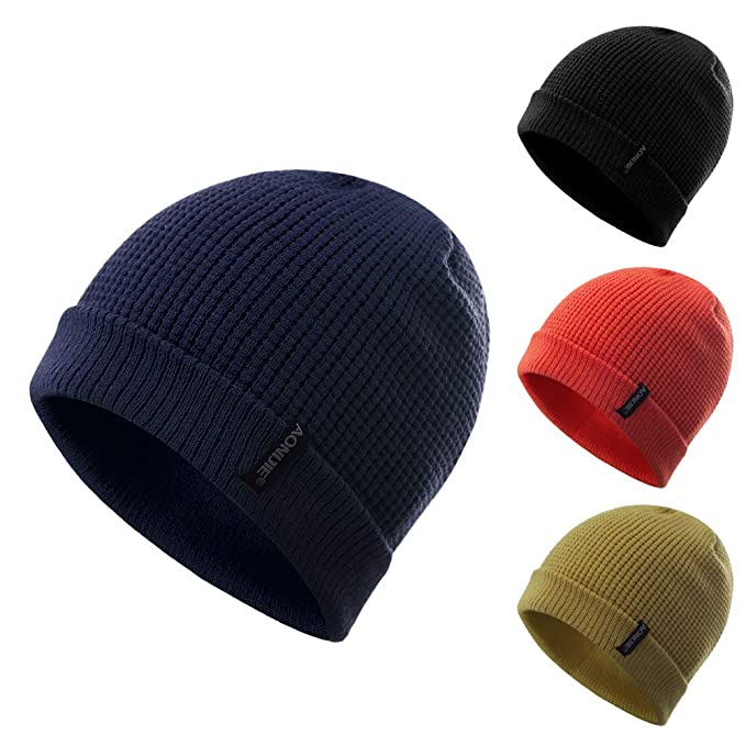 Amazon.com  Lovtour Winter Warm Knit Beanie Sports Hat Solid Color Outdoors  Cap Unisex for Hiking Bicycling Running Cycling Camping (Black)  Clothing 038e2cb24afa