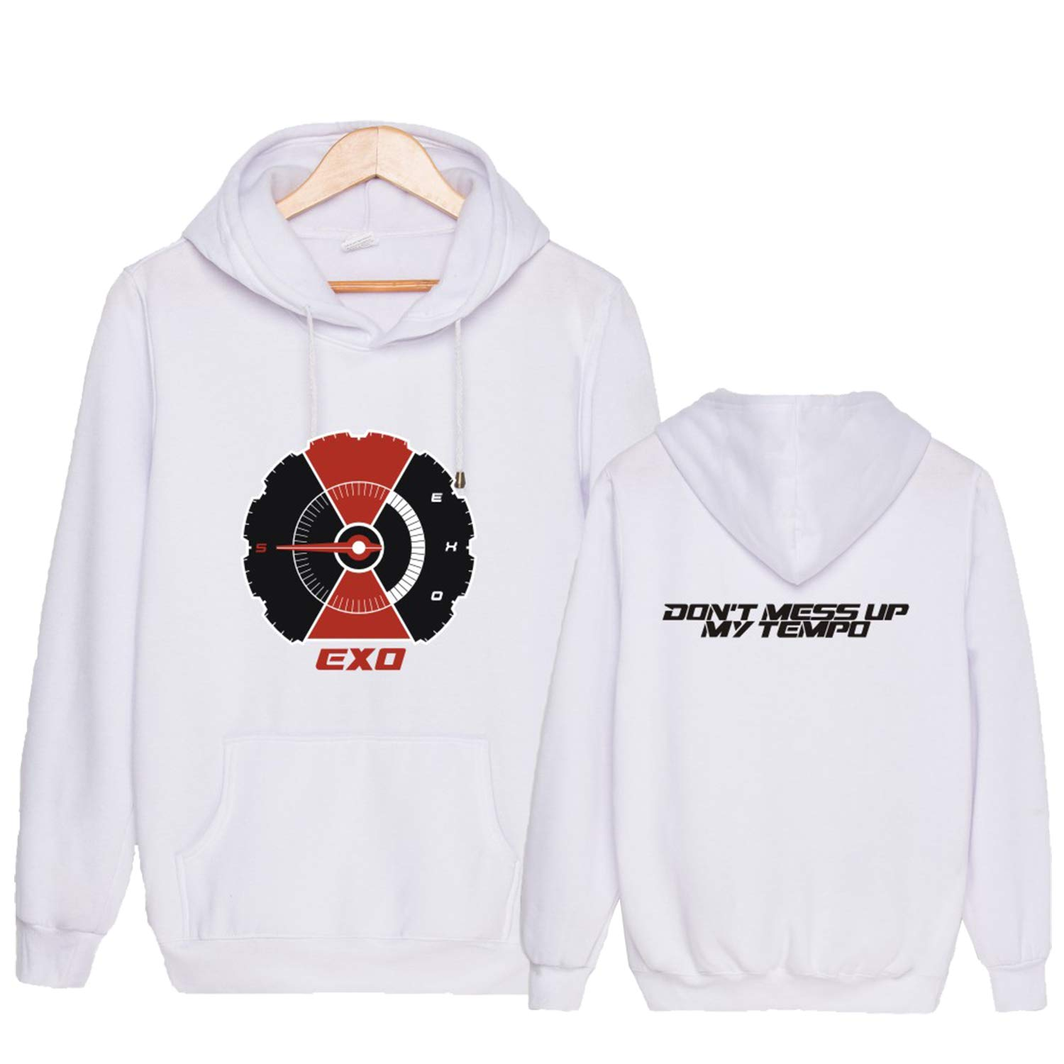 Qaedtls EXO New Album Dont Mess UP My Tempo Sweater Sehun Suho Xiumin Chanyeol Hoodie