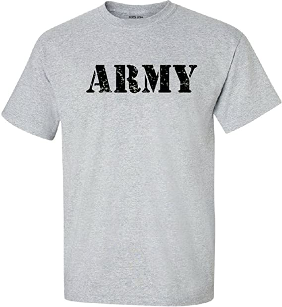 Joe s USA - Grey Vintage Army Logo Short Sleeve-S 48b41c9e0