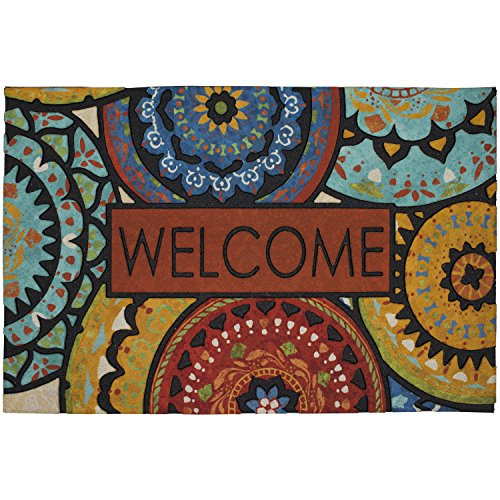 Mohawk Home Doorscapes Spanish Suzani All All Weather Rubber Durable Non Slip Entry Way Indoor/Outdoor Welcome Door Mat, 23 x 35 Inch,