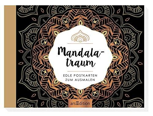 Mandalatraum: Edle Postkarten zum Ausmalen (Malprodukte für Erwachsene)