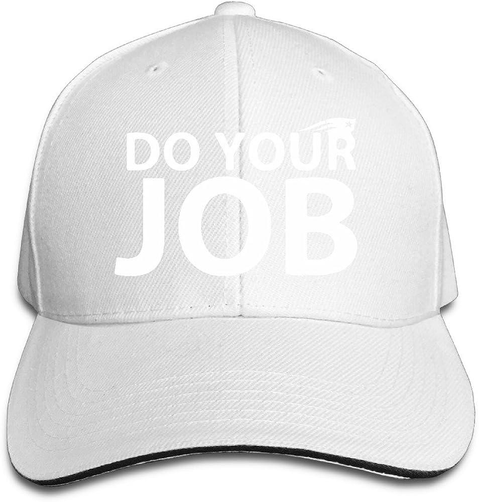 Do Your Job New England Patriot Sandwich Peak Cap Adjustable Cap Black