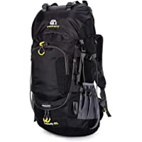 Decdeal 60L Waterproof Hiking Backpack Camping Mountain Climbing Cycling Backpack Outdoor Sport Bag with Rain Cover