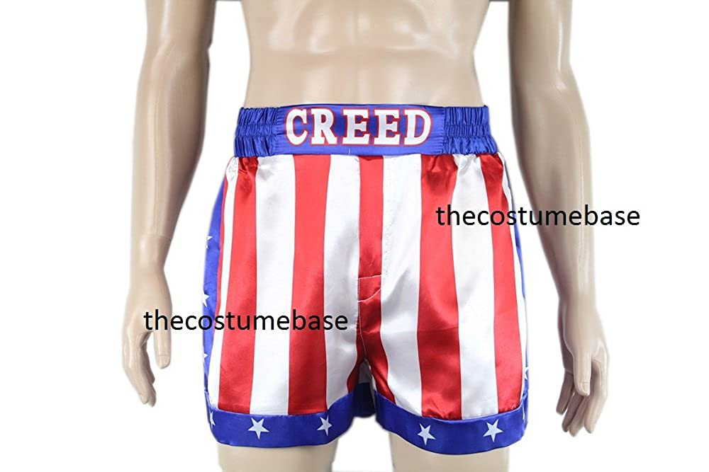CREED Rocky Men's Apollo Johnson Movie Boxing American Flag Shorts Trunks boxers