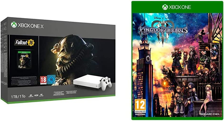Xbox One X - Consola 1 TB, Color Blanco + Fallout con Kingdom Hearts 3: Amazon.es: Videojuegos