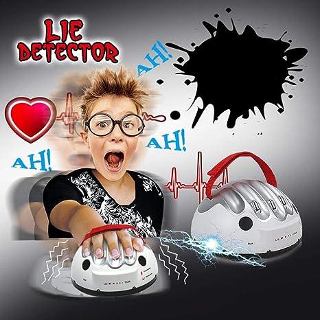 Neborn Detector de mentiras de Descarga eléctrica Ajustable Polígrafo Juego para Adultos Verdad impactante Mentiroso Detector de mentiras eléctrico Juguete para niños Fiesta Amor Pareja: Amazon.es: Hogar