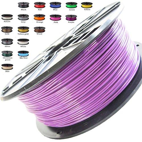 (Melca 1.75 3D Printer Filament PLA 1kg +/- 0.03mm, Purple (#924E7D))