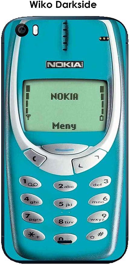 Onozo Coque Wiko Darkside Design Nokia 3310 Scuba Blue: Amazon.fr ...