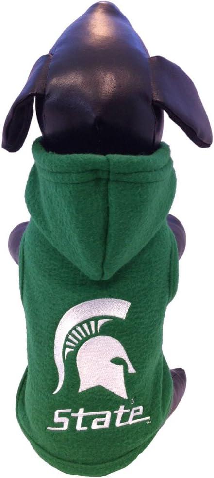 NCAA Michigan State Spartans Polar Fleece Hooded Dog Jacket