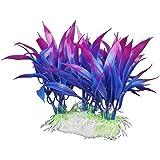 12cm Kunststoff Aquarium Pflanzen ornament für Fisch Tank - lila + blau