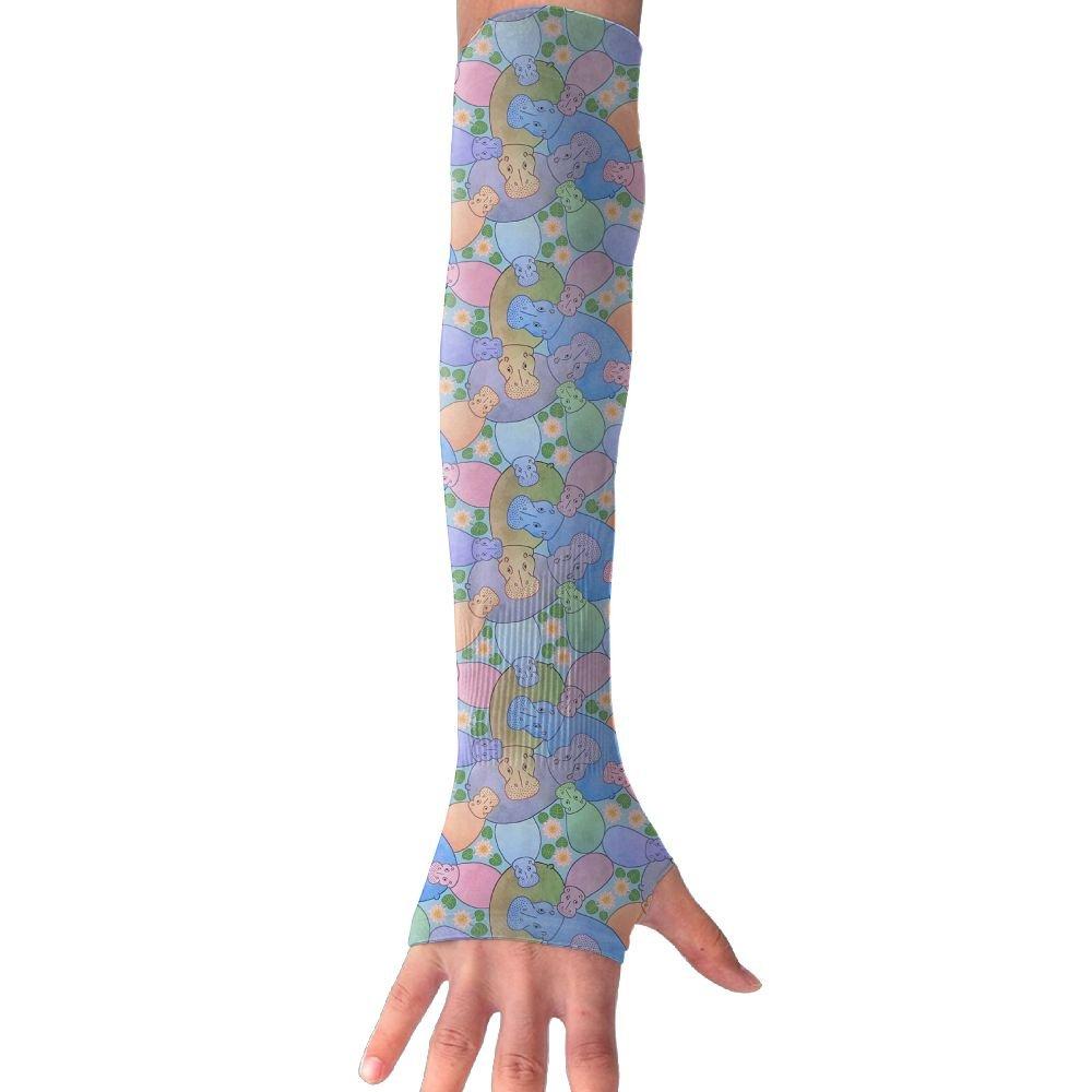 Unisex Hippo Pond Sense Ice Outdoor Travel Arm Warmer Long Sleeves Glove