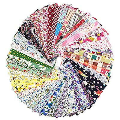RayLineDo 15X Different Pattern Patchwork 100% Cotton Poplin Fabric Bundle Squares Of 2025cm Quilting Scrapbooking Artcraft Project Collection One