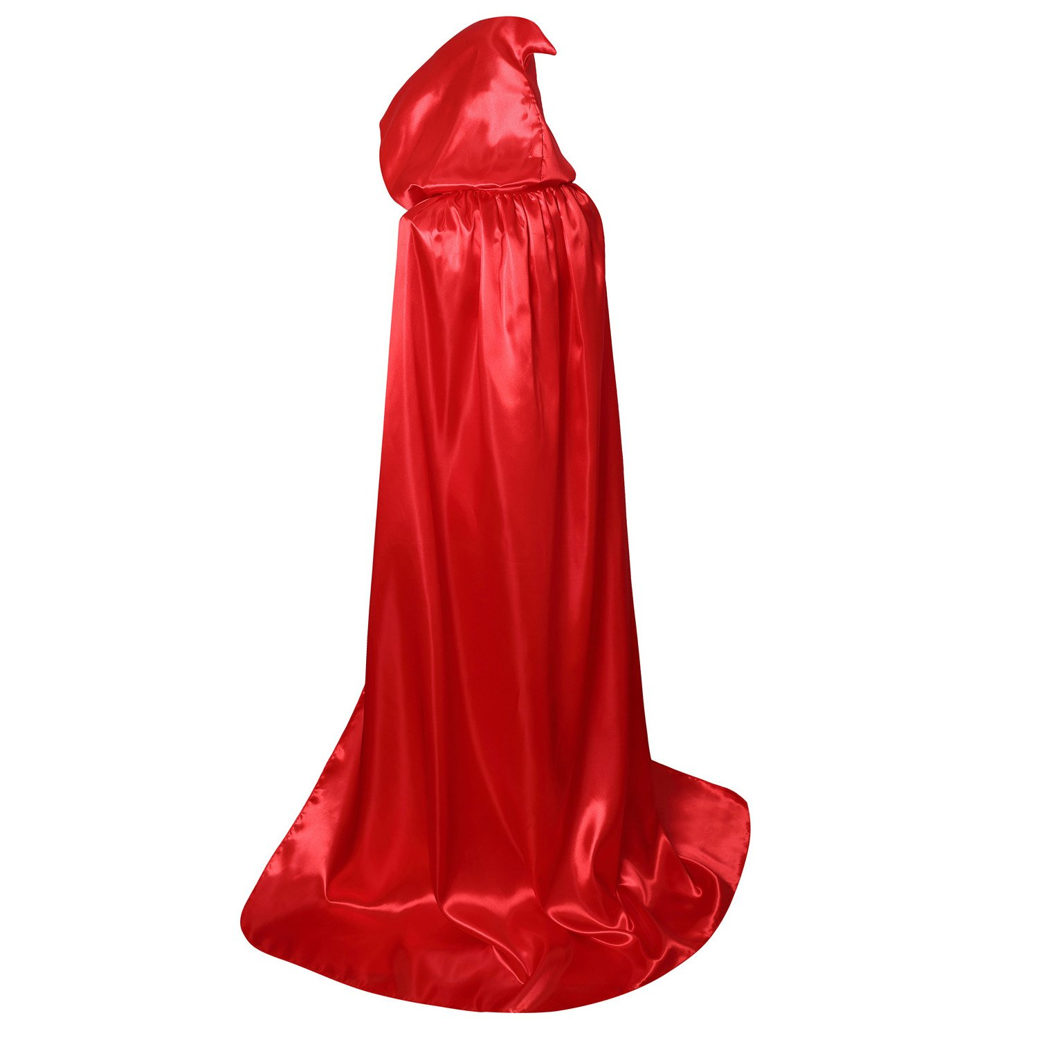 Ourlove Fashion Unisex Hooded Cloak Coat Witch Robe Cape Long Halloween Cosplay Party Cloak59