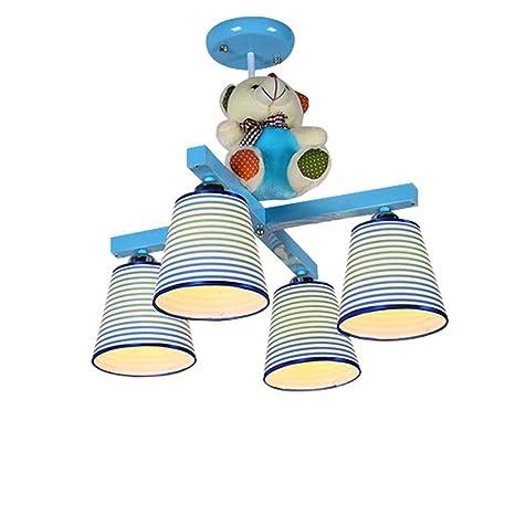 Lámpara de techo para dormitorio de rayas rosas para niños ...
