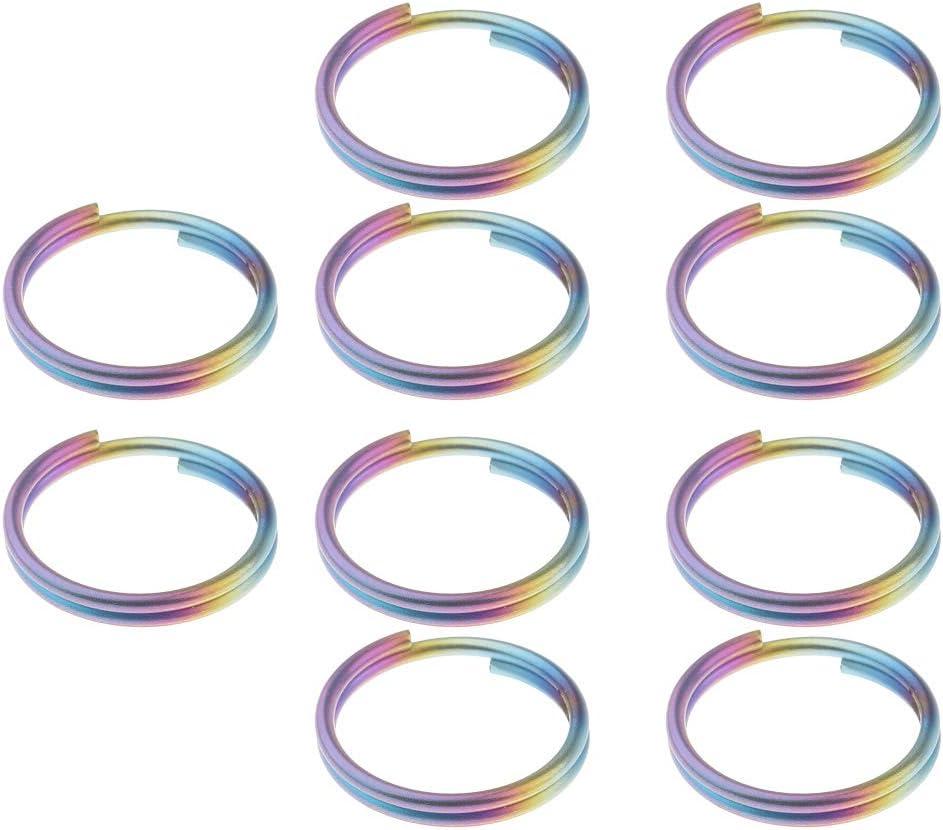 10x Llaves De Titanio Divididas Llaveros Anillos Bucles Cierres Llaveros Conectores 14 Mm
