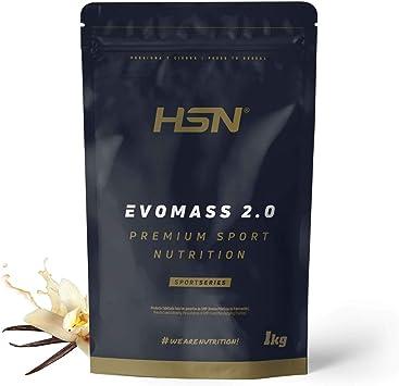 Ganador de Peso y Masa Muscular de HSN   Evomass 2.0   Weight Gainer: Carbohidratos (Maltodextrina + Harina de Avena) + Whey Protein   Vegetariano, ...