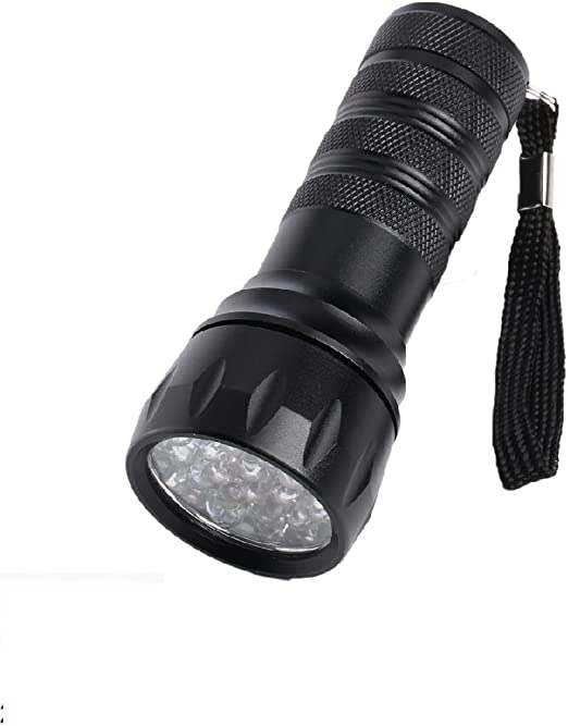 fronnor 21 LED UV Detector de fugas de gas antorchas rotulador de tinta invisible ultra violet linterna LED